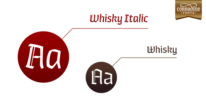 Print on Demand: Whisky Italic Family Blackletter Font By Corradine Fonts - Image 1