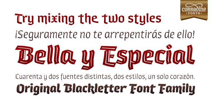 Print on Demand: Whisky Italic Family Blackletter Font By Corradine Fonts - Image 2