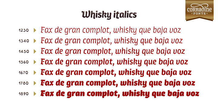 Print on Demand: Whisky Italic Family Blackletter Font By Corradine Fonts - Image 7