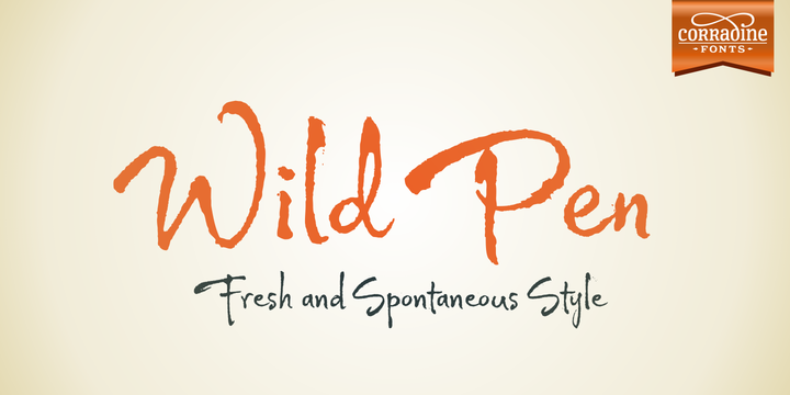 Print on Demand: Wild Pen Family Script & Handwritten Font By Corradine Fonts