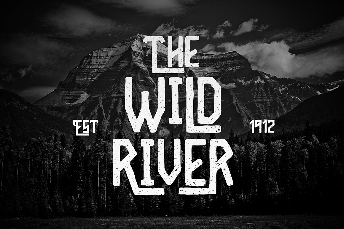 Print on Demand: Wild River Display Font By madeDeduk