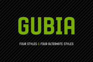Gubia Family Font By Graviton Font Foundry