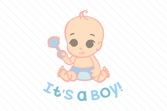 It's a Boy Kids Craft Cut File By Creative Fabrica Crafts