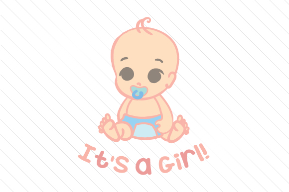 Download Free It S A Girl Svg Cut File By Creative Fabrica Crafts Creative for Cricut Explore, Silhouette and other cutting machines.
