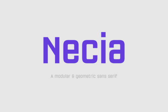 Print on Demand: Necia Family Sans Serif Font By Graviton Font Foundry - Image 1
