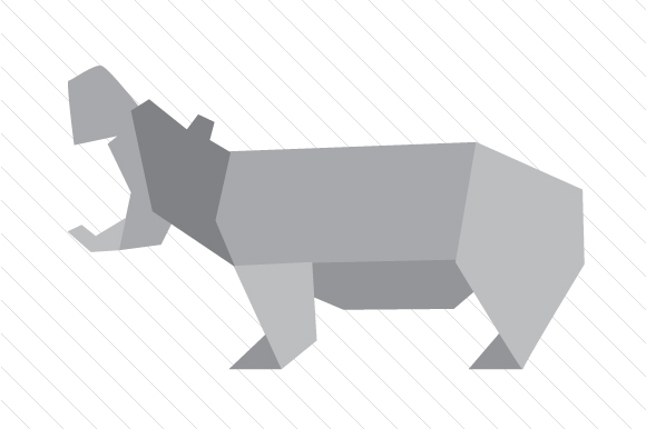 Download Free Origami Hippo Svg Cut File By Creative Fabrica Crafts Creative for Cricut Explore, Silhouette and other cutting machines.
