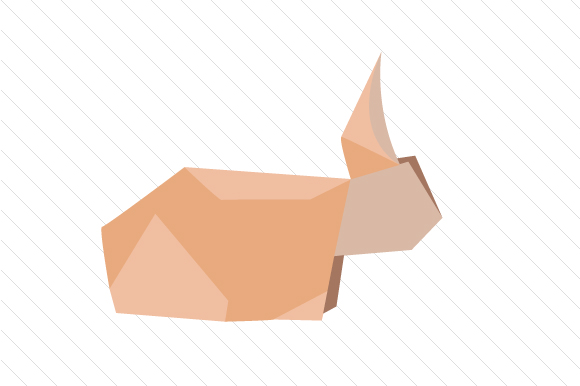 Origami Rabbit Designs & Drawings Craft Cut File By Creative Fabrica Crafts