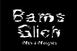 Print on Demand: Bams Glitch Decorative Font By GraphicsBam Fonts