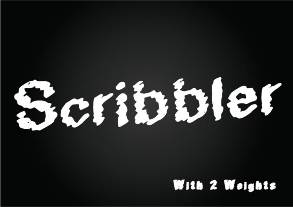 Print on Demand: Scribbler Sans Serif Font By GraphicsBam Fonts - Image 1