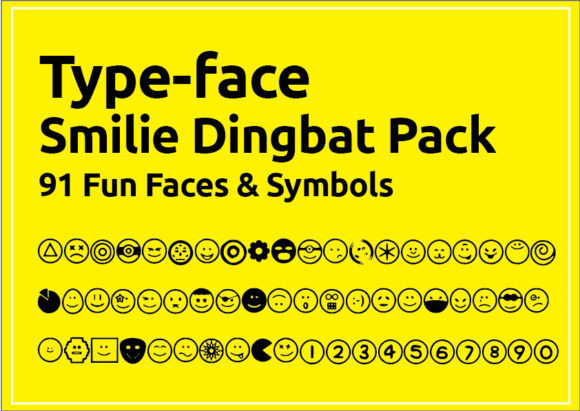 Print on Demand: TypeFace Dingbats Font By GraphicsBam Fonts