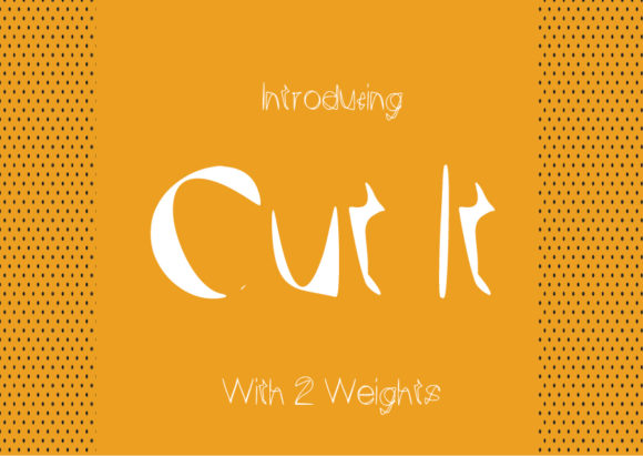 Print on Demand: Cut It Decorative Font By GraphicsBam Fonts