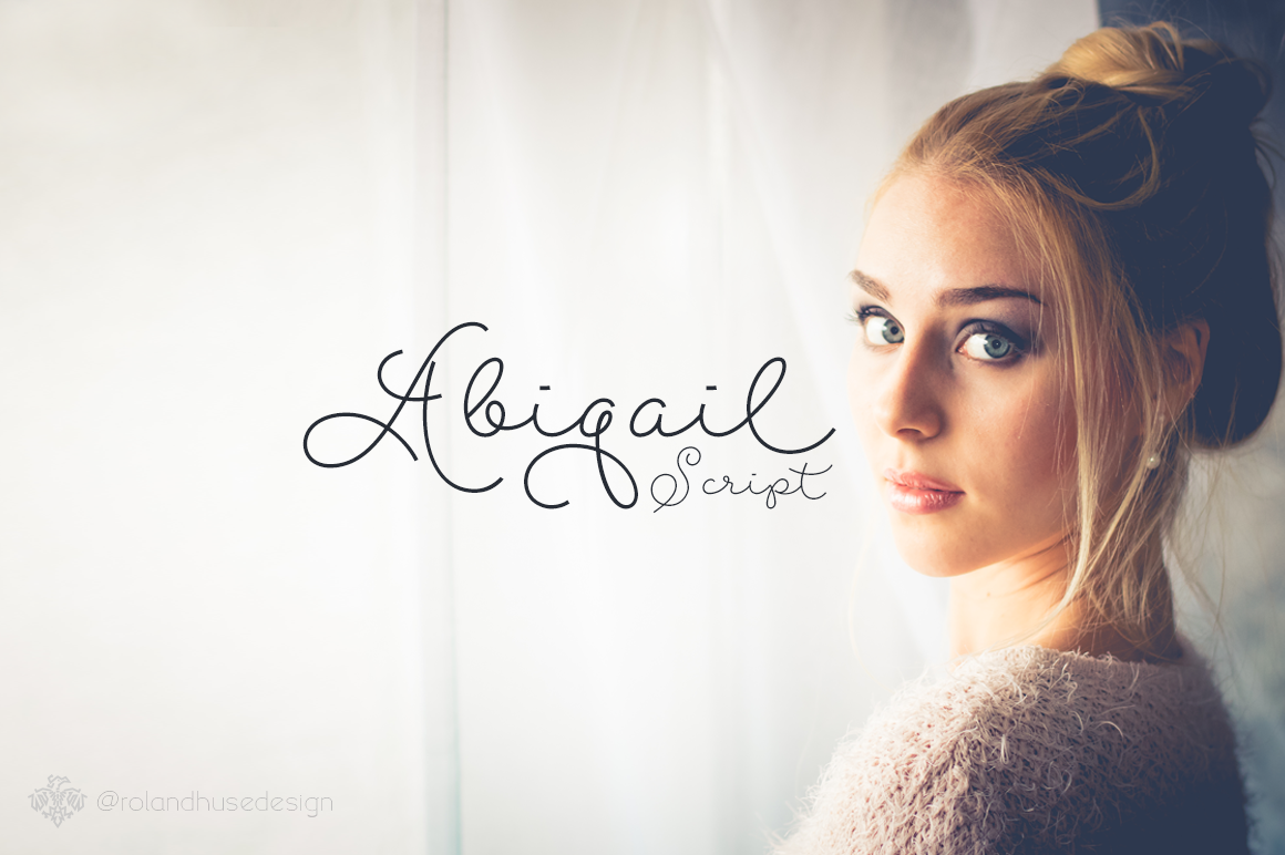 Print on Demand: Abigail Script Script & Handwritten Font By Roland Hüse Design - Image 1