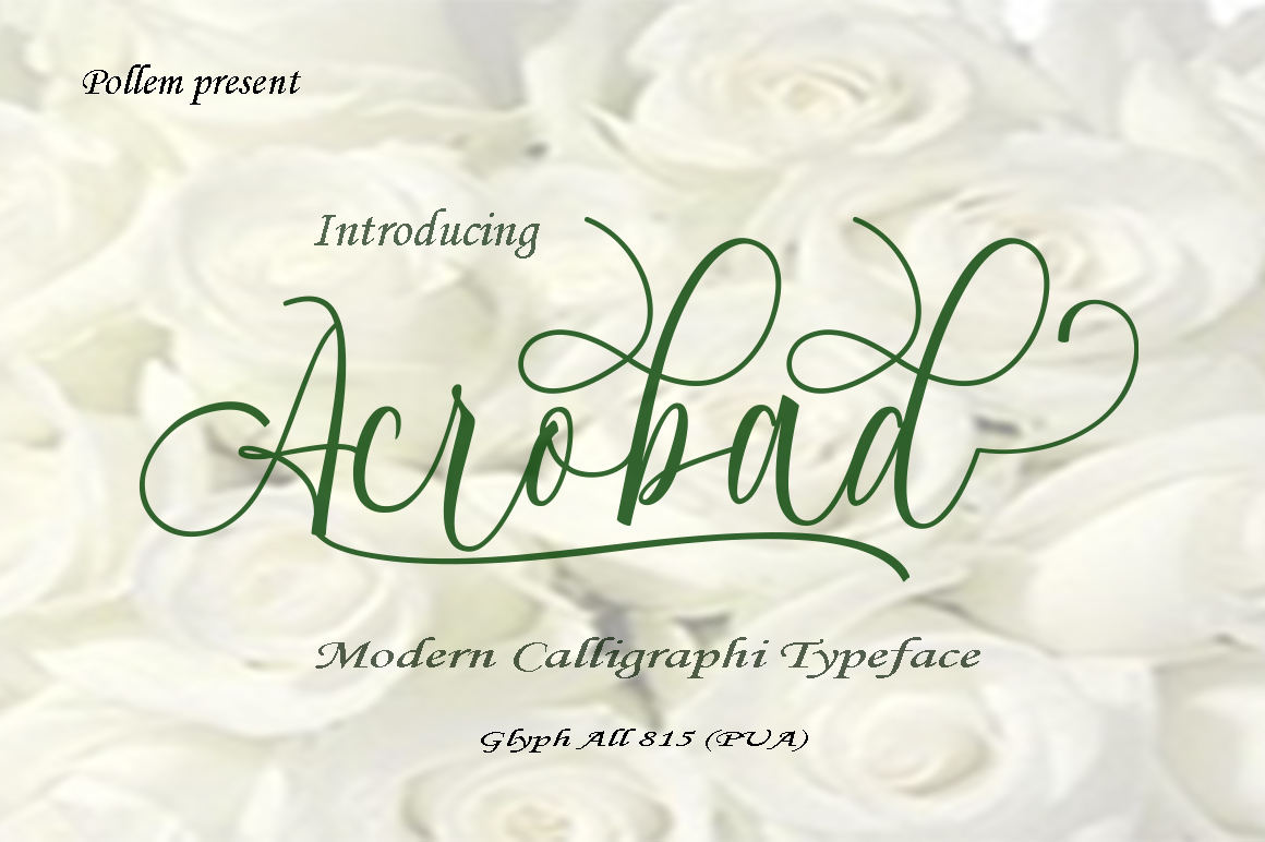 Print on Demand: Acrobad Script & Handwritten Font By Polem - Image 1