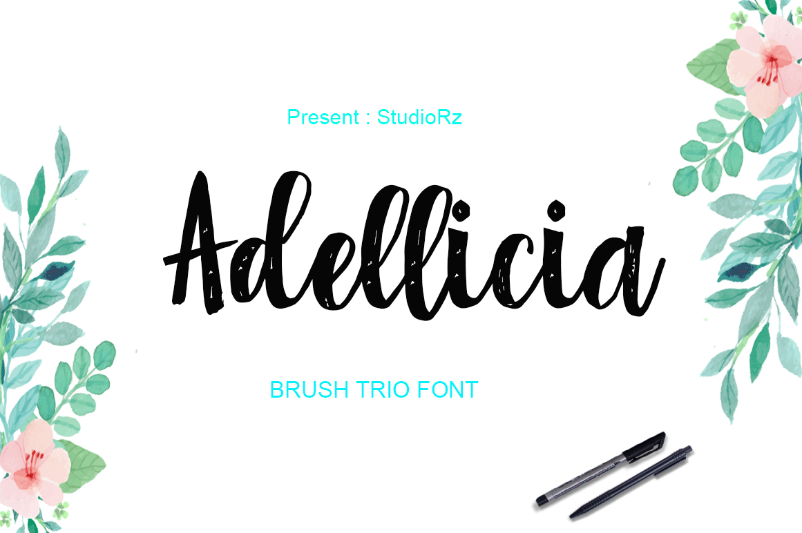 Print on Demand: Adellicia Script & Handwritten Font By StudioRz