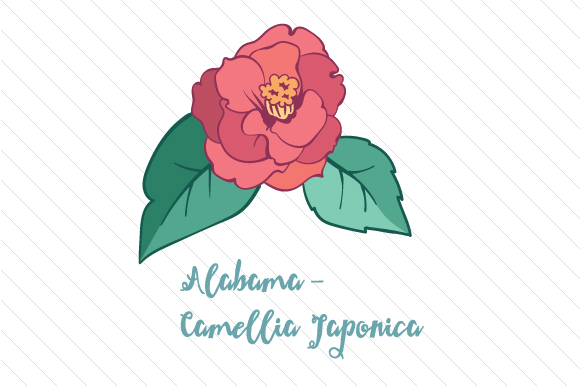 State Flower: Alabama Camellia Japonica State Flowers Craft Cut File By Creative Fabrica Crafts