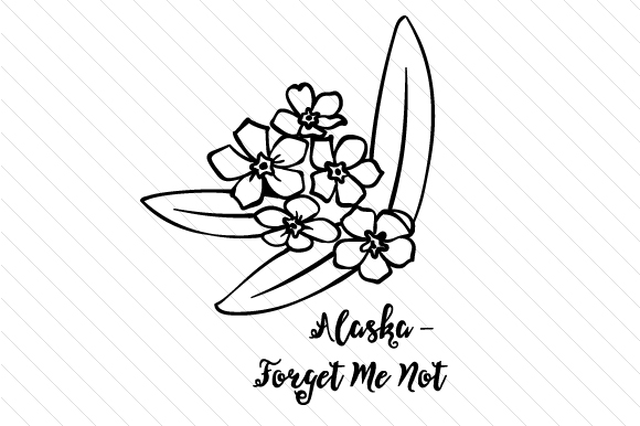 Download Free State Flower Alaska Forget Me Not Svg Cut File By Creative for Cricut Explore, Silhouette and other cutting machines.