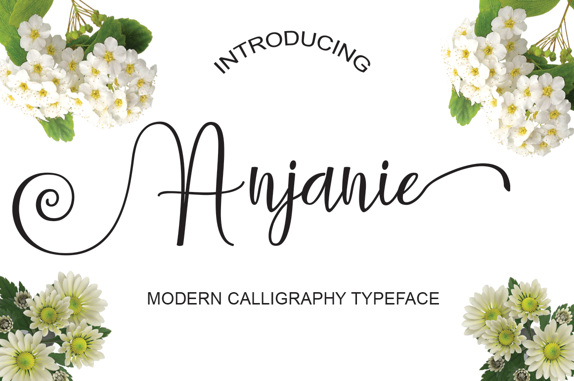 Print on Demand: Anjanie Script & Handwritten Font By Naqsya.Co