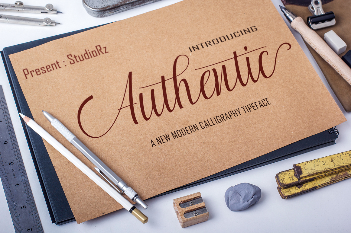 Print on Demand: Authentic Script & Handwritten Font By StudioRz