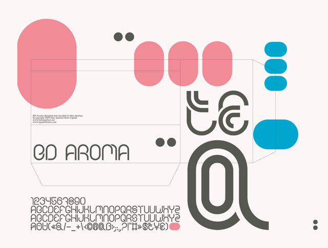Print on Demand: BD Aroma Display Font By Büro Destruct