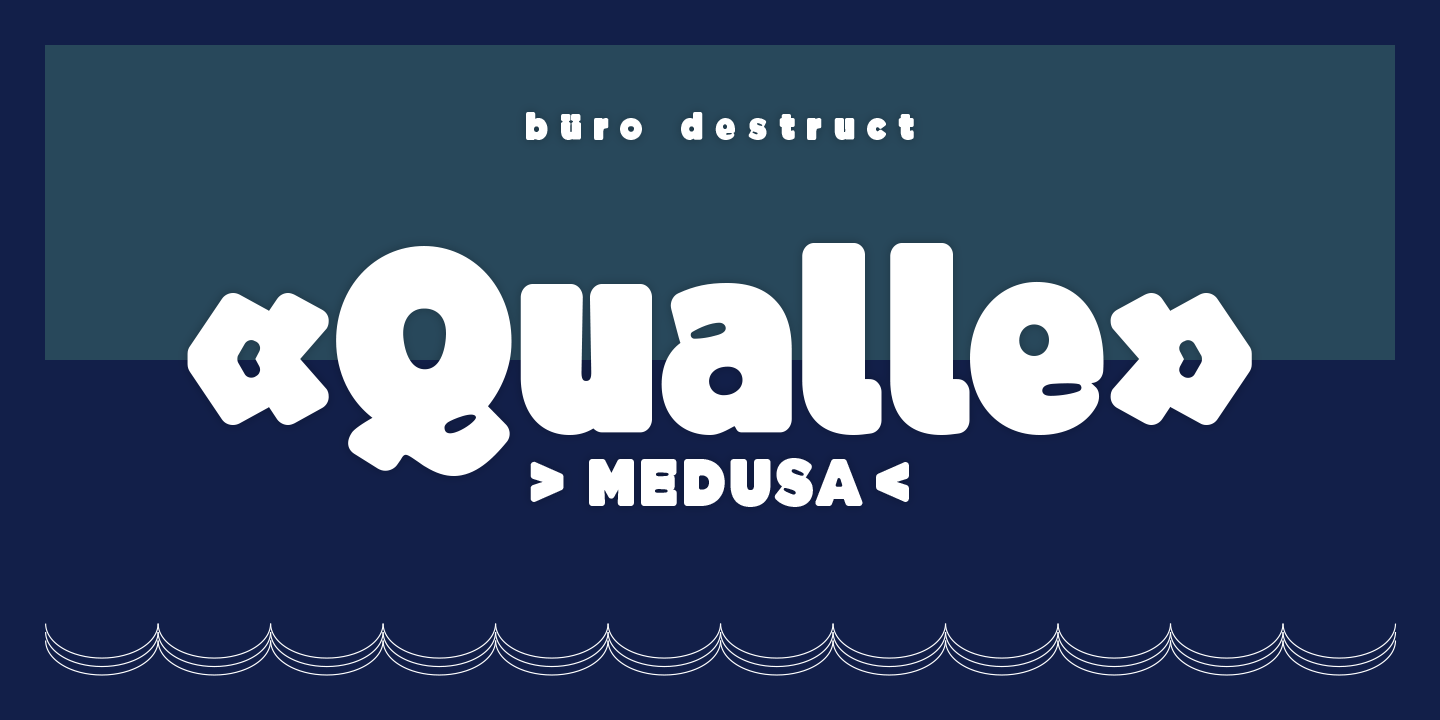 Print on Demand: BD Qualle Display Font By Büro Destruct