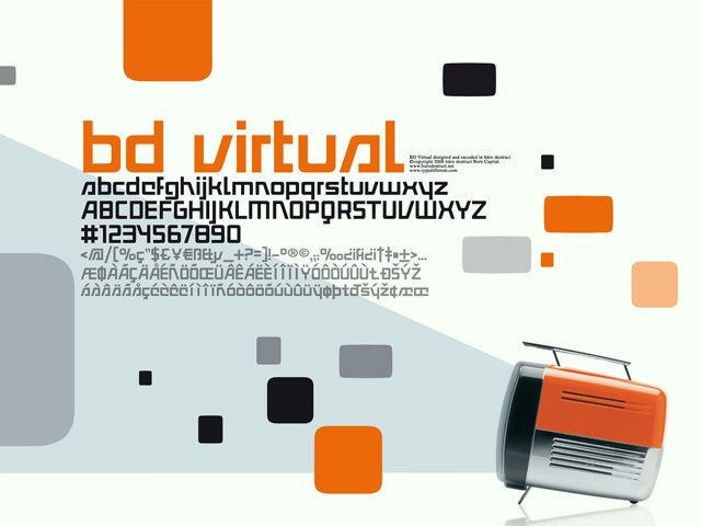 BD Virtual Display Font By Büro Destruct