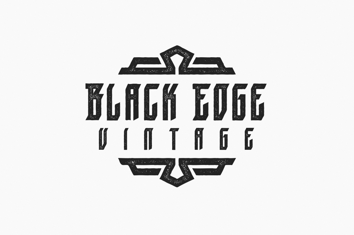 Print on Demand: Black Edge Vintage Blackletter Font By Mirco Zett Fonts