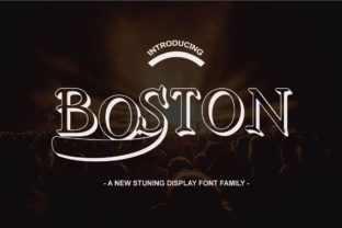 Boston Font Family by Ajir