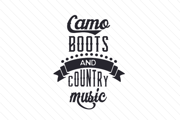 Camo Boots and Country Music Craft Design By Creative Fabrica Crafts