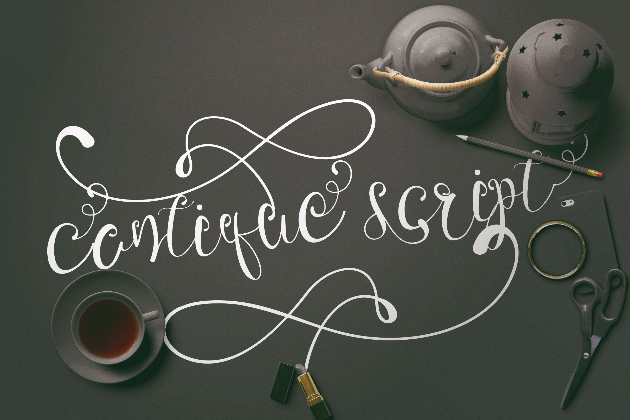 Print on Demand: Cantique Script Script & Handwritten Font By Ajir