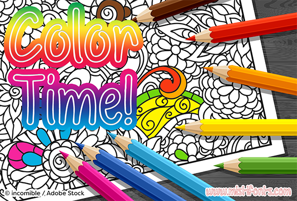 Print on Demand: Color Time Script & Handwritten Font By Misti