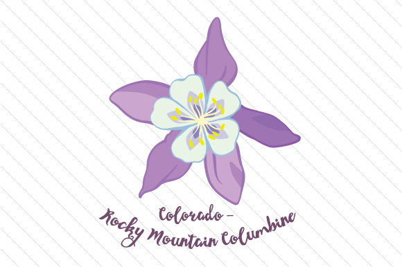 State Flower: Colorado Rocky Mountain Columbine State Flowers Craft Cut File By Creative Fabrica Crafts