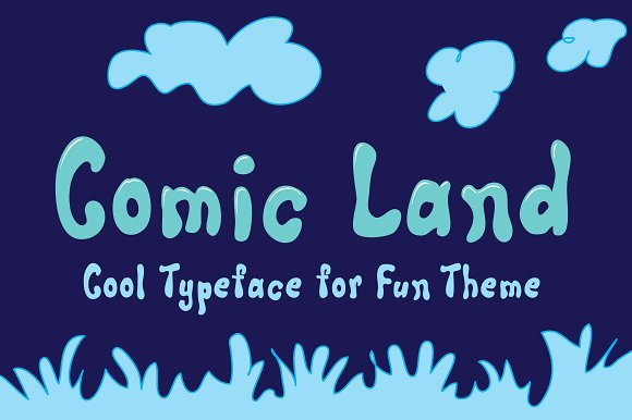 Print on Demand: Comic Land Script & Handwritten Font By Royaltype