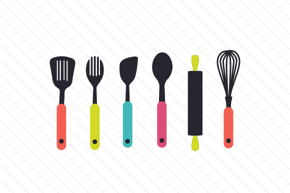 Cooking Utensils Set Kitchen Craft Cut File By Creative Fabrica Crafts