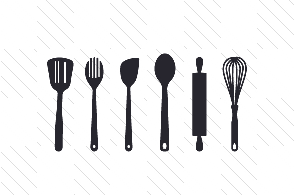 Download Free Cooking Utensils Svg Cut File By Creative Fabrica Crafts for Cricut Explore, Silhouette and other cutting machines.
