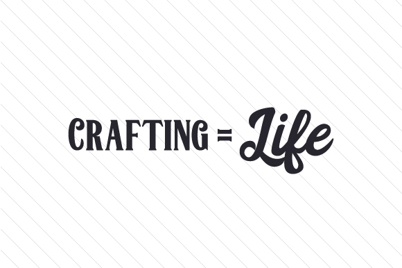 Download Free Crafting Life Svg Cut File By Creative Fabrica Crafts for Cricut Explore, Silhouette and other cutting machines.