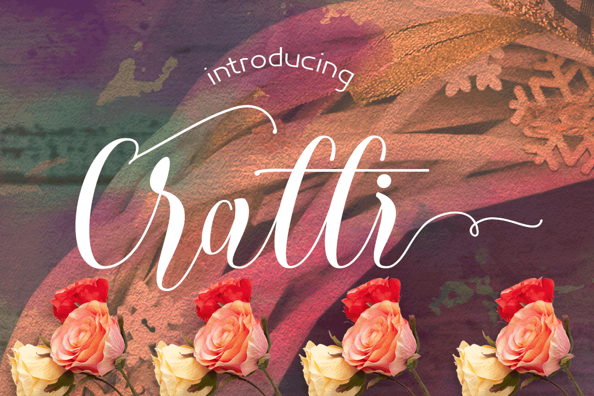 Print on Demand: Cratti Script & Handwritten Font By Meutuwah