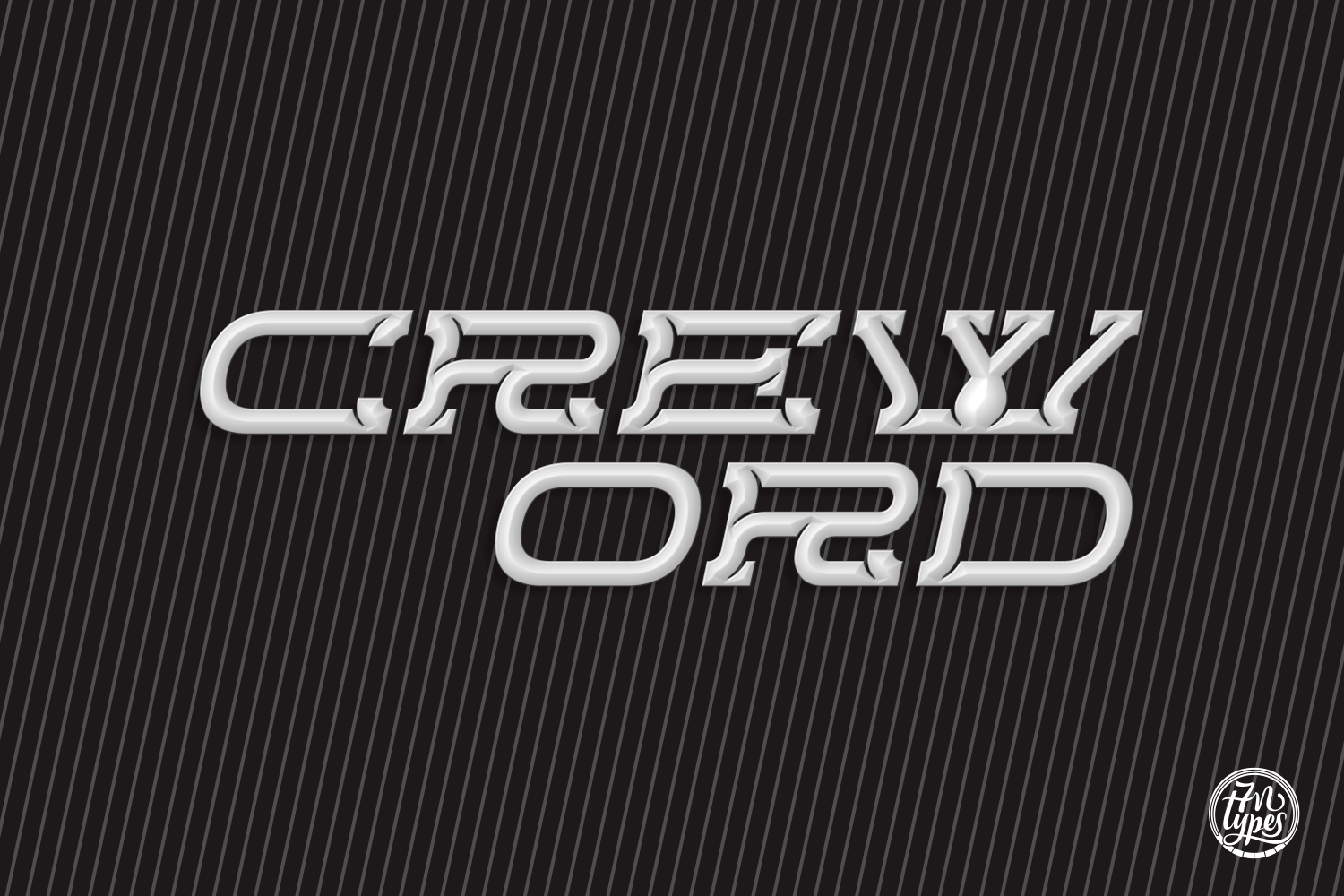 Print on Demand: Creword Display Font By Situjuh