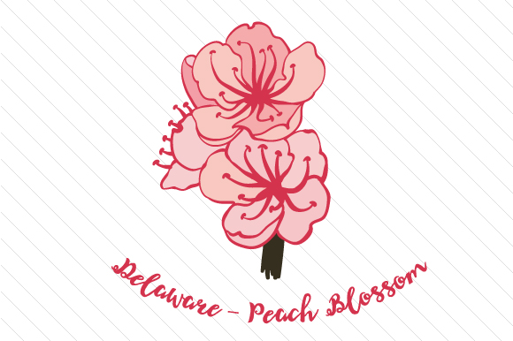 State Flower: Delaware Peach Blossom State Flowers Craft Cut File By Creative Fabrica Crafts