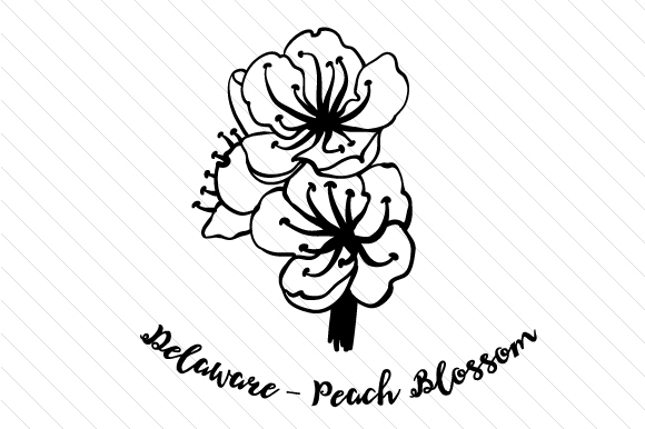 Download Free State Flower Delaware Peach Blossom Svg Cut File By Creative for Cricut Explore, Silhouette and other cutting machines.
