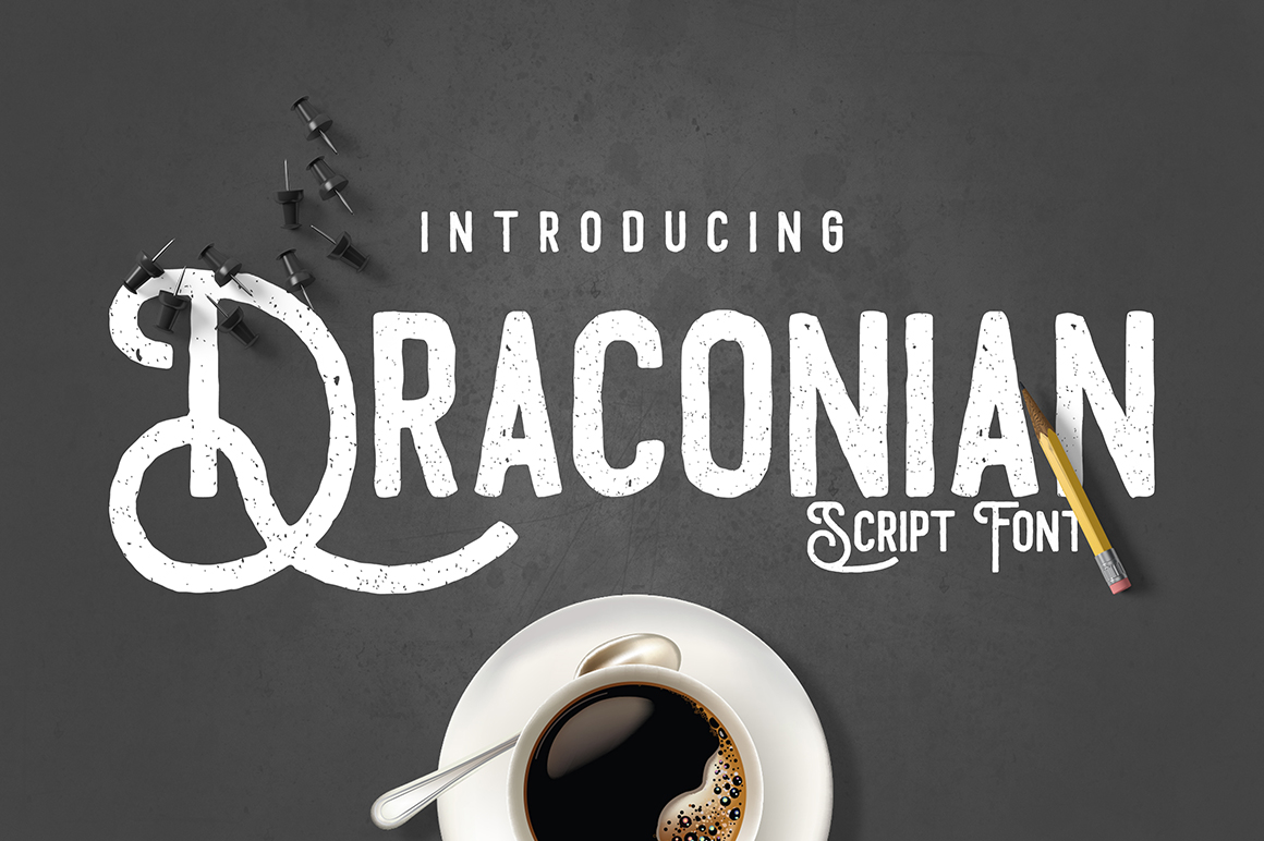 Draconian Display Font By madeDeduk