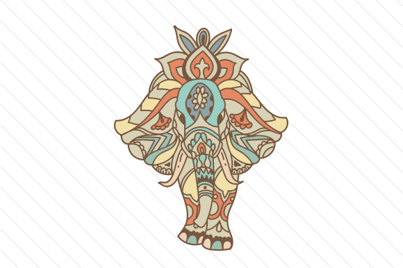 Elephant Mandela with Boho Pattern Boho Craft Cut File By Creative Fabrica Crafts