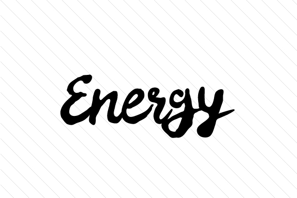 Energy Word Art Craft Cut File By Creative Fabrica Crafts