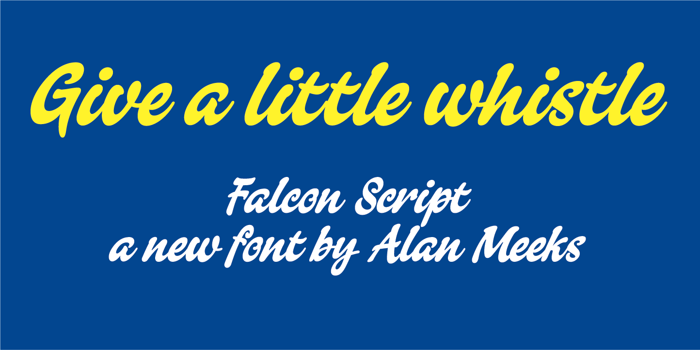 Print on Demand: Falcon Script Manuscrita Fuente Por Alan Meeks