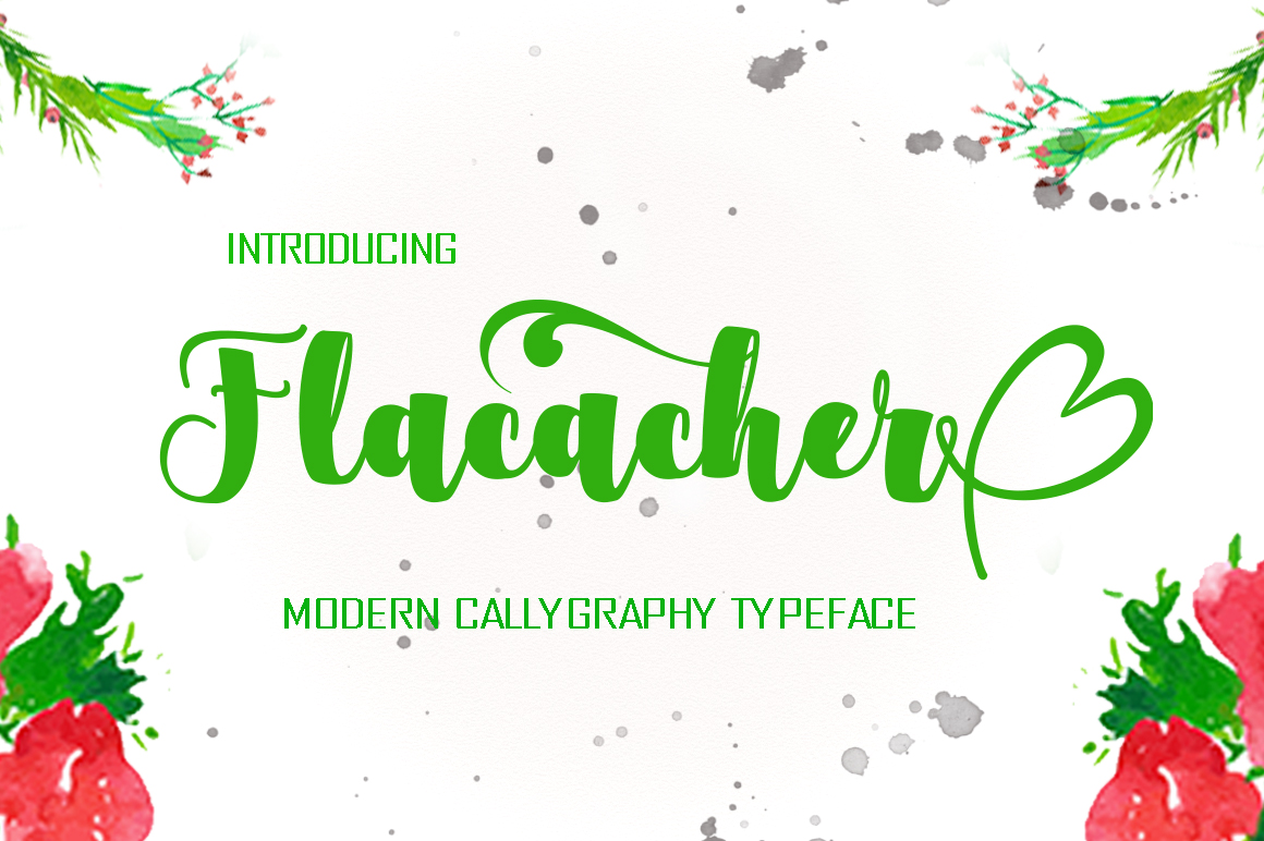 Flacacher Font By Polem Image 1