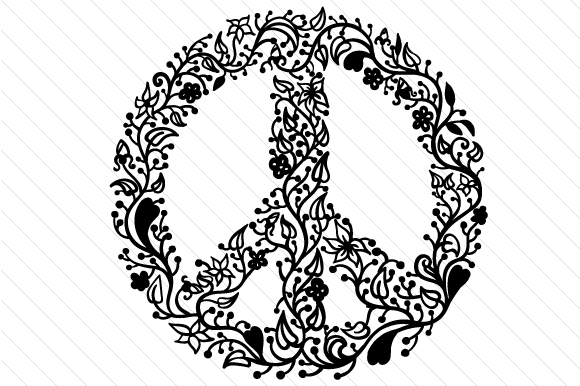 Floral Peace Sign Intricate cuts Craft Cut File By Creative Fabrica Crafts - Image 2