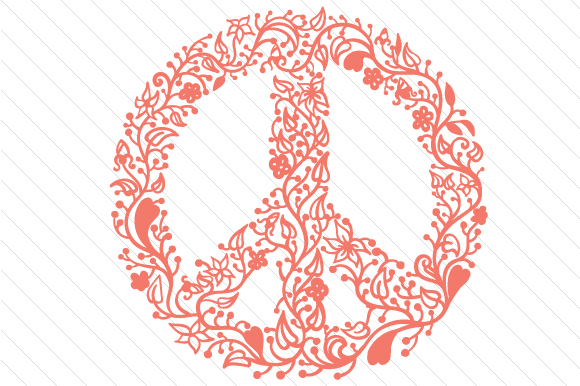 Floral Peace Sign Intricate cuts Craft Cut File By Creative Fabrica Crafts