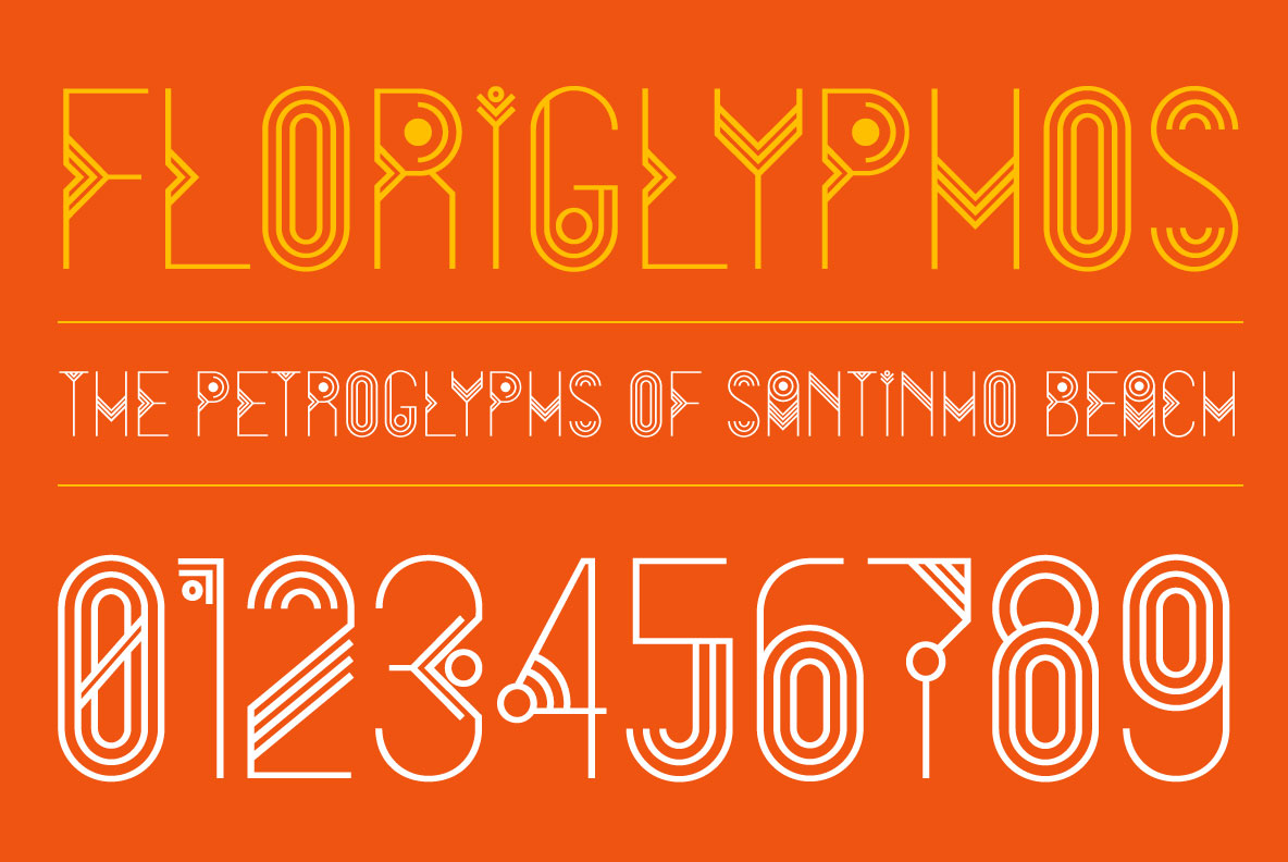 Print on Demand: FloriGlyphos Decorative Font By Cort9 - Image 4