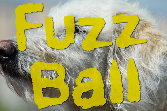 Print on Demand: Fuzzball Decorativa Fuente Por GraphicsBam Fonts