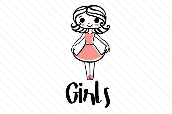 girls restroom sign svg cut file by creative fabrica crafts