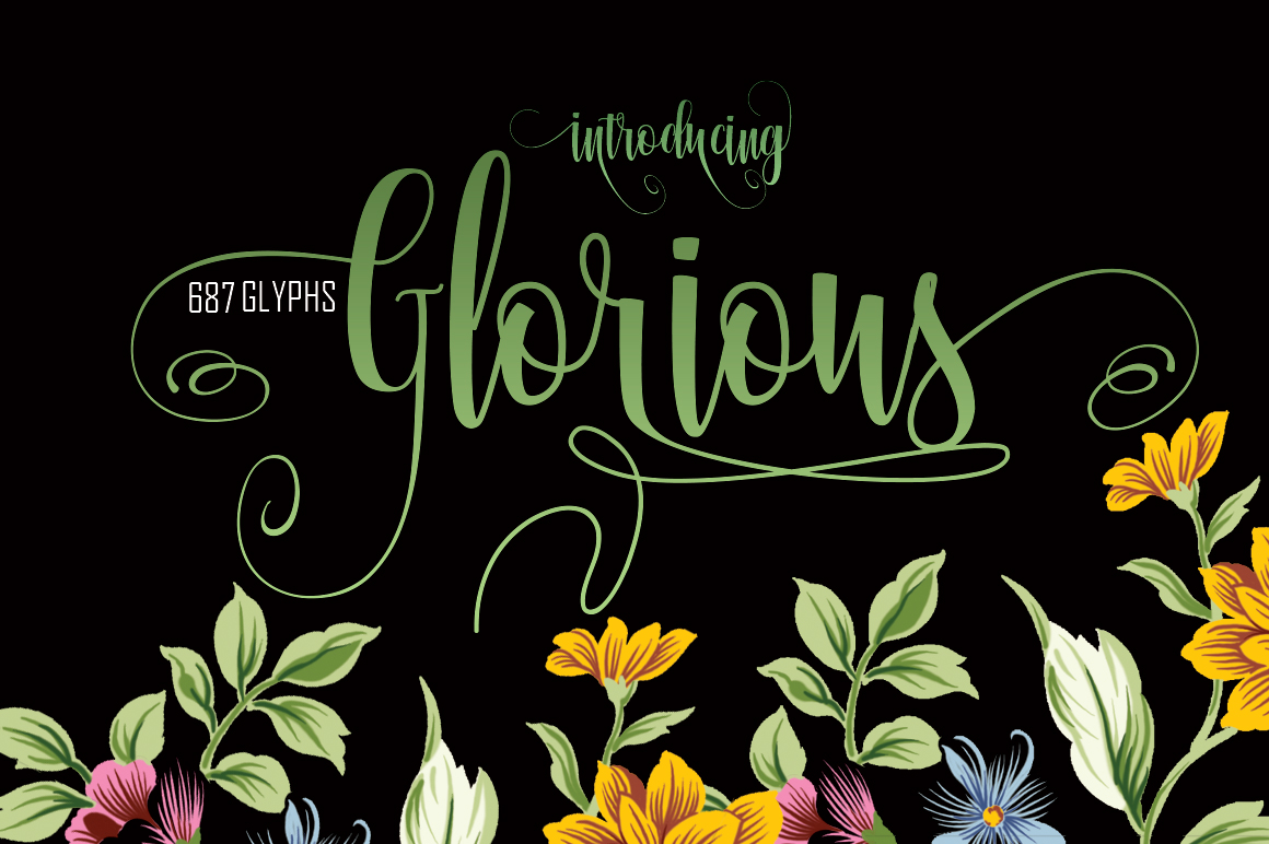 Print on Demand: Glorious Script & Handwritten Font By Rt Creative